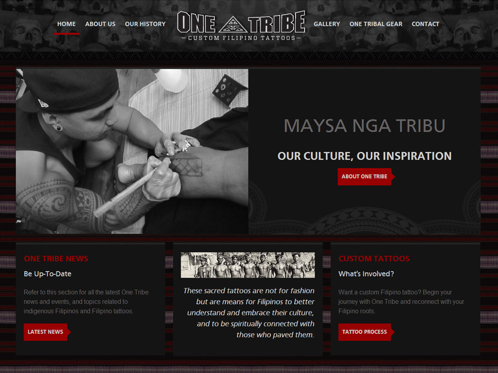 one tribe tattoos ikandee web design. Black Bedroom Furniture Sets. Home Design Ideas