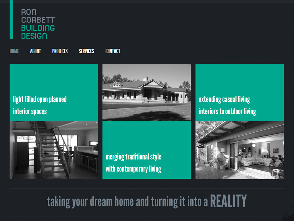 Ron corbett building design ikandee web design for Building design website