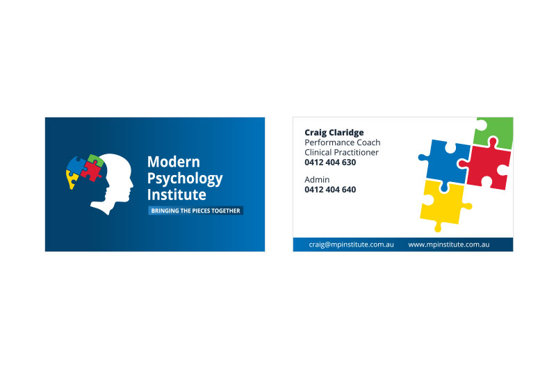 Modern psychology institute ikandee web design modern psychology institute business card design reheart Image collections